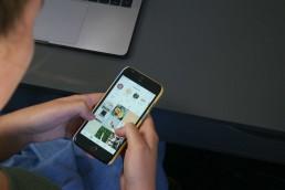 Social media pinterest on phone