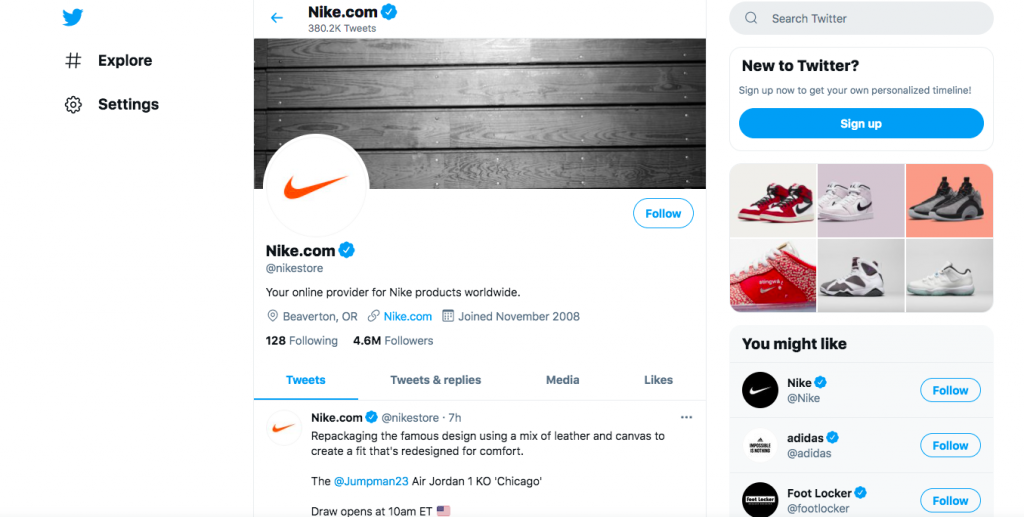 Twitter Nike